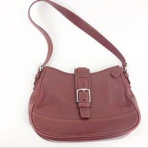 Vintage Coach Leather Shoulder Bag Rust